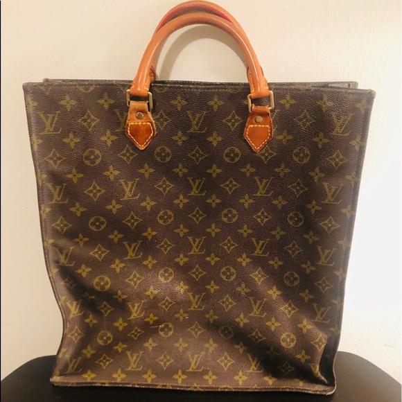 Vintage Louis Vuitton Sak Plat Tote bag